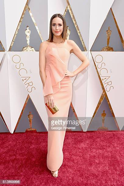 TV personality Louise Roe attends the 88th Annual Academy Awards at Hollywood Highland Center on February 28 2016 in Hollywood California