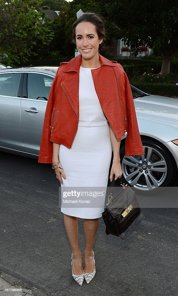 TV personality Louise Roe attends the BritWeek Los Angeles red carpet launch party with official vehicle sponsor Jaguar on April 23, 2013 in Los Angeles, California.