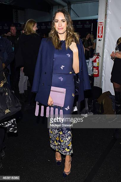 TV personality Louise Roe attends the Erin Fetherston show during MercedesBenz Fashion Week Fall 2015 at The Salon at Lincoln Center on February 18...