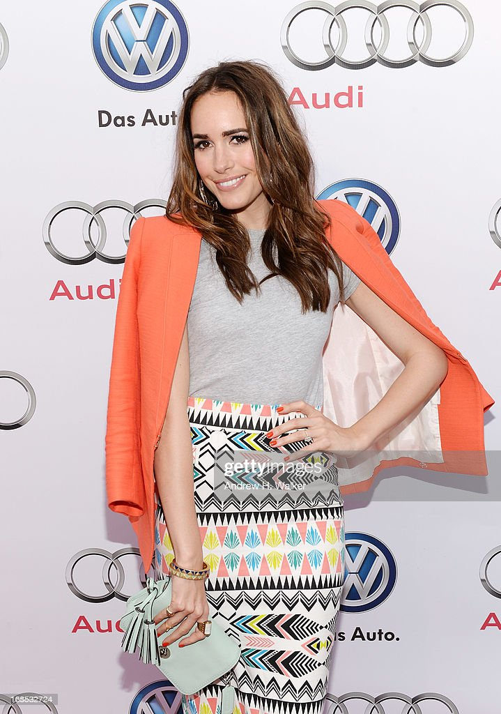 TV personality Louise Roe attends the grand opening of the Audi and Volkswagen Manhattan dealership on May 10, 2013 in New York City.