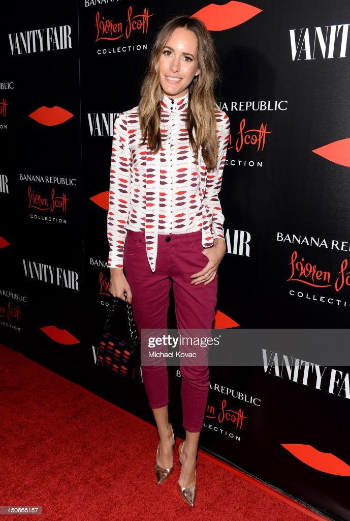 TV personality Louise Roe attends the launch celebration of the Banana Republic L'Wren Scott Collection hosted by Banana Republic, L'Wren Scott and Krista Smith at Chateau Marmont on November 19, 2013 in Los Angeles, California.