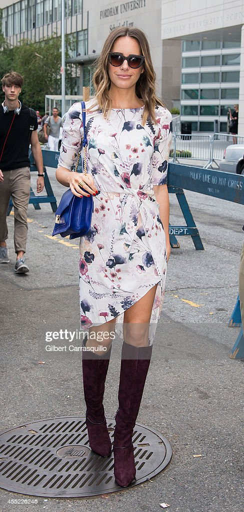 TV personality Louise Roe is seen at the Lincoln Center during MercedesBenz Fashion Week Spring 2015 on September 10 2014 in New York City