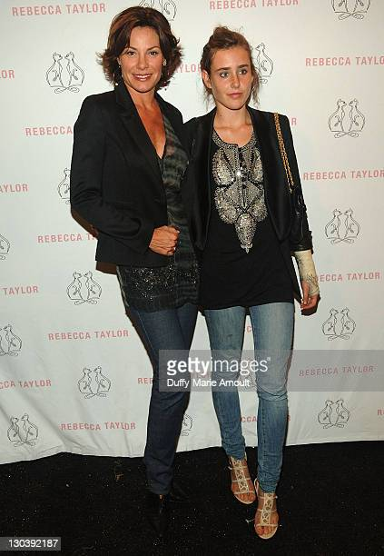 TV Personality LuAnn de Lesseps and Victoria de Lesseps attend Rebecca Taylor Spring 2010 during MercedesBenz Fashion Week at Bryant Park on...