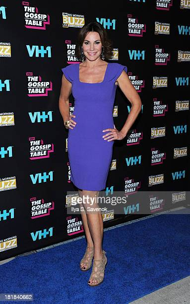 TV personality LuAnn de Lesseps attends the Big Morning Buzz Live And The Gossip Table Premiere on September 25 2013 in New York City