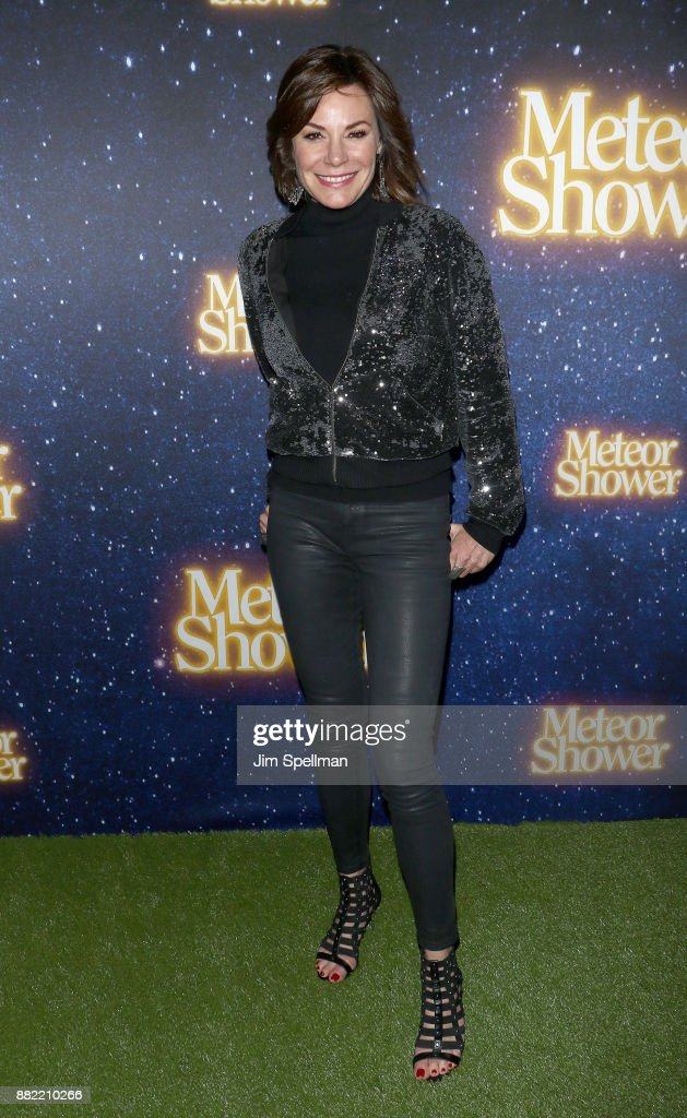 TV personality Luann de Lesseps attends the 'Meteor Shower' Broadway opening night at the Booth Theatre on November 29, 2017 in New York City.