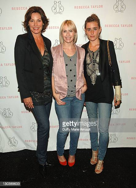 TV Personality LuAnn de Lesseps designer Rebecca Taylor and Victoria de Lesseps attend Rebecca Taylor Spring 2010 during MercedesBenz Fashion Week at...