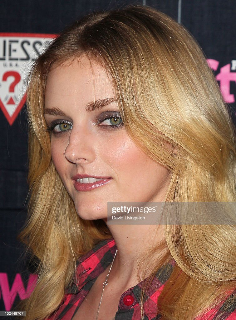 TV personality Lydia Hearst attends the People StyleWatch Denim Party at Palihouse on September 20, 2012 in West Hollywood, California.
