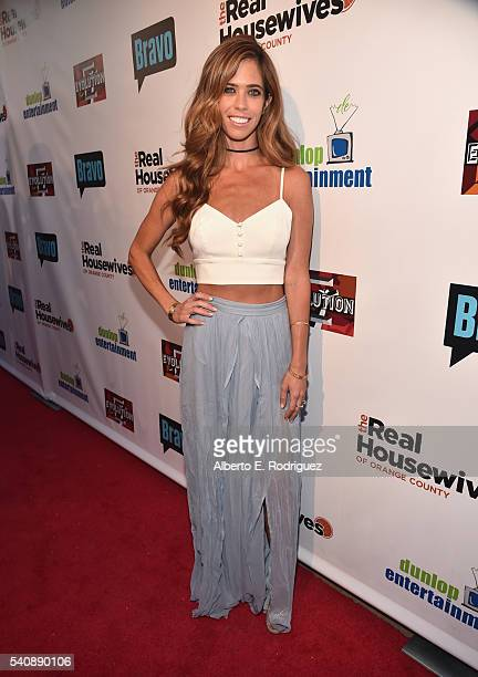 TV personality Lydia McLaughlin attends the premiere party for Bravo's 'The Real Housewives of Orange County' 10 year celebration at Boulevard3 on...