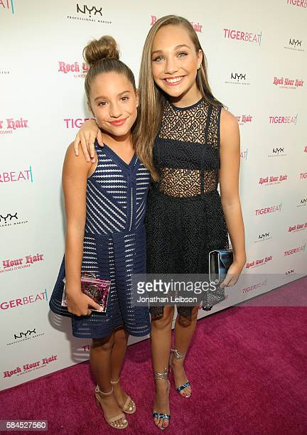 TV personality Mackenzie Ziegler and Maddie Ziegler attends TigerBeat's Official Teen Choice Awards PreParty Sponsored by NYX Professional Makeup and...
