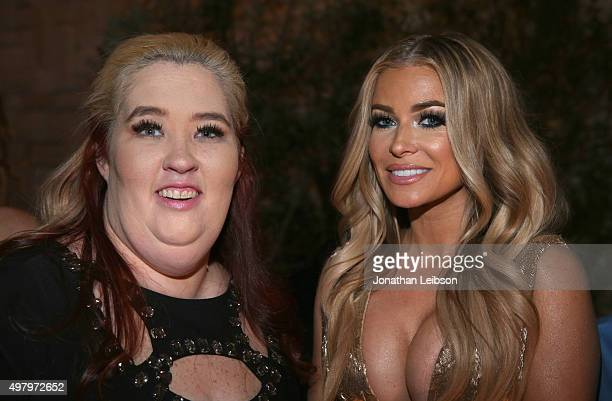 TV personality Mama June and model Carmen Electra attend the WE tv premiere of 'Marriage Boot Camp' Reality Stars and 'Exisled' on November 19 2015...