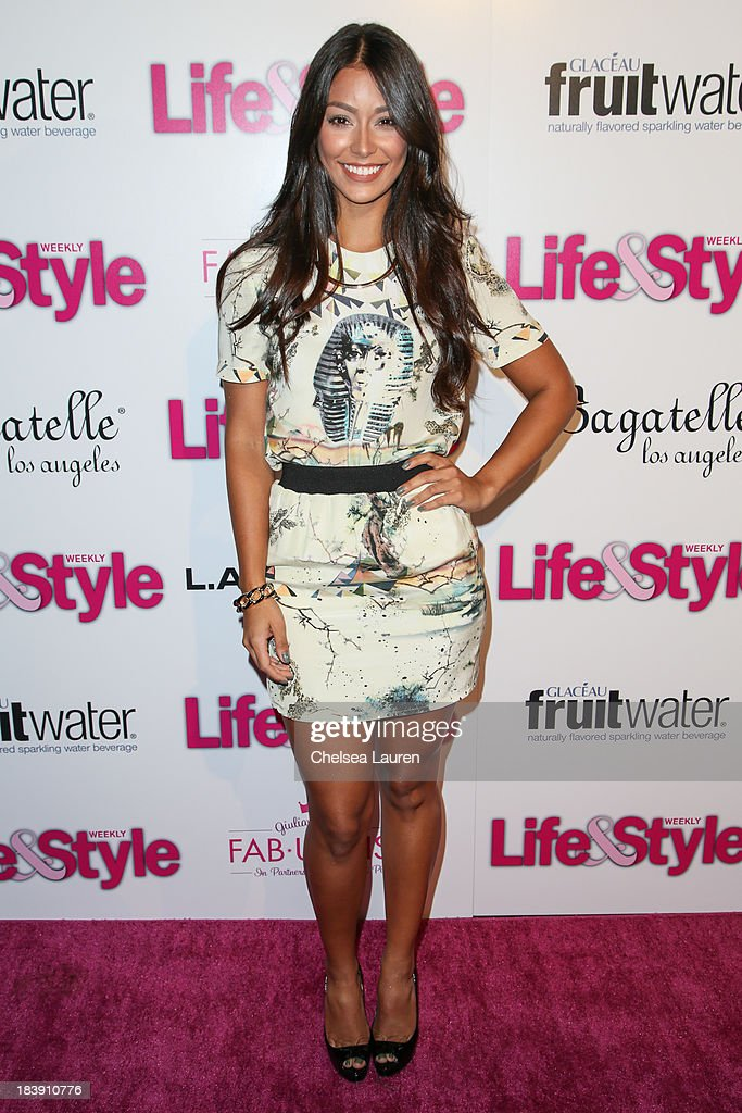 TV personality Manuela Arbelaez arrives at Life & Style's Hollywood in Bright Pink event hosted by Giuliana Rancic at Bagatelle on October 9, 2013 in Los Angeles, California.
