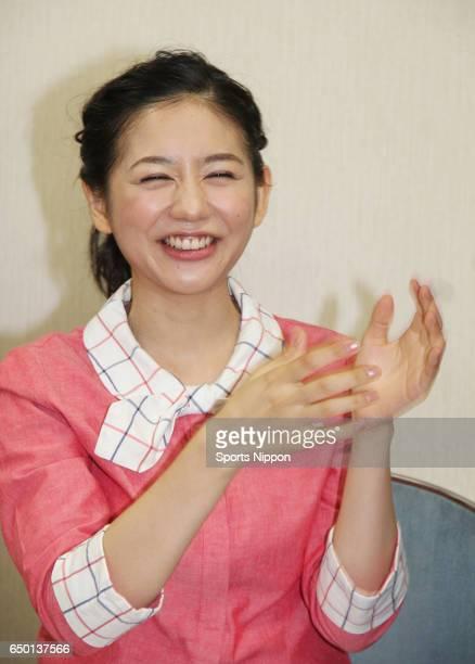TV personality Mari Sekine attends press conference of TV Tokyo program 'Bla Mari no itadaki' on October 8 2014 in Tokyo Japan