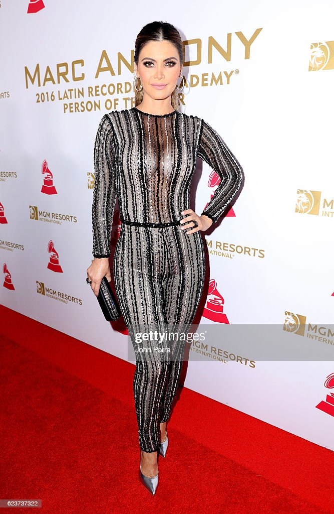TV personality Maria Chiquinquira Delgado Diaz attends the 2016 Person of the Year honoring Marc Anthony at the MGM Grand Garden Arena on November 16, 2016 in Las Vegas, Nevada.