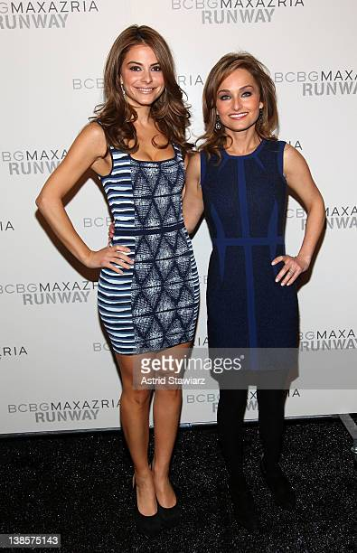 TV personality Maria Menounos and celebrity chef Giada De Laurentiis attend the BCBG Max Azria Fall 2012 fashion show during MercedesBenz Fashion at...