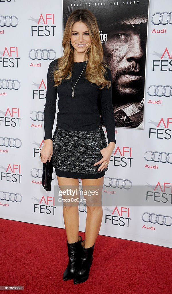 TV personality Maria Menounos arrives at the AFI FEST 2013 for the 'Lone Survivor' premiere at TCL Chinese Theatre on November 12, 2013 in Hollywood, California.