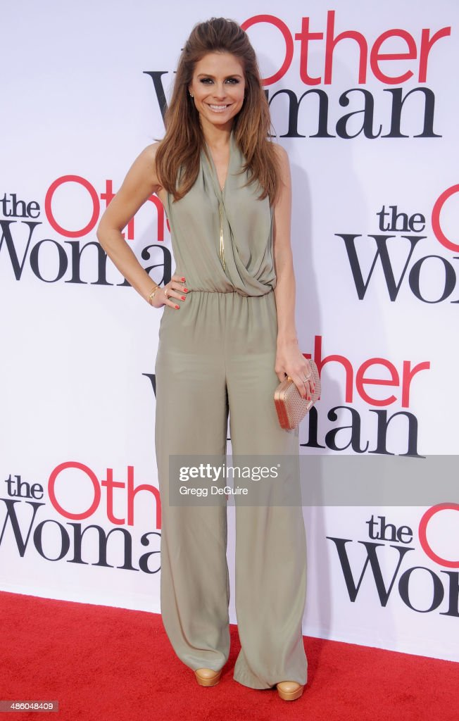 TV personality <a gi-track='captionPersonalityLinkClicked' href=/galleries/search?phrase=Maria+Menounos&family=editorial&specificpeople=203337 ng-click='$event.stopPropagation()'>Maria Menounos</a> arrives at the Los Angeles premiere of 'The Other Woman' at Regency Village Theatre on April 21, 2014 in Westwood, California.