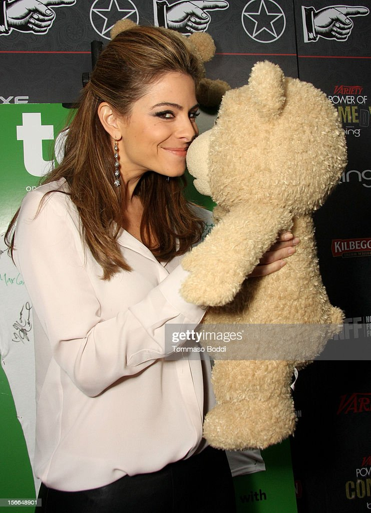 TV personality Maria Menounos arrives at Variety's 3rd annual Power of Comedy event presented by Bing benefiting the Noreen Fraser Foundation held at Avalon on November 17, 2012 in Hollywood, California. The Ted Blu-ray and DVD will be released on December 11, 2012.