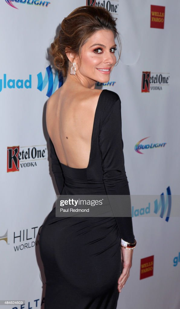 TV personality <a gi-track='captionPersonalityLinkClicked' href=/galleries/search?phrase=Maria+Menounos&family=editorial&specificpeople=203337 ng-click='$event.stopPropagation()'>Maria Menounos</a> arriving at the 25th Annual GLAAD Media Awards at The Beverly Hilton Hotel on April 12, 2014 in Beverly Hills, California.