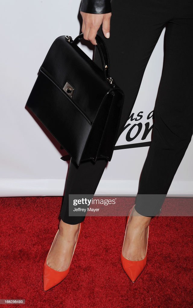 TV Personality Maria Menounos (handbag, shoe detail) at the Eva Longoria announces contest winner for 'Lay's 'Do Us A Flavor' Contest at Beso on May 6, 2013 in Hollywood, California.