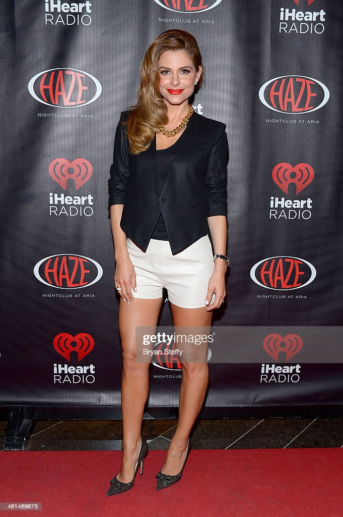 TV personality Maria Menounos attends a private party celebrating CES 2014 hosted by iHeartRadio featuring a live performance by Krewella at Haze Nightclub at the Aria Resort & Casino at CityCenter on January 8, 2014 in Las Vegas, Nevada.