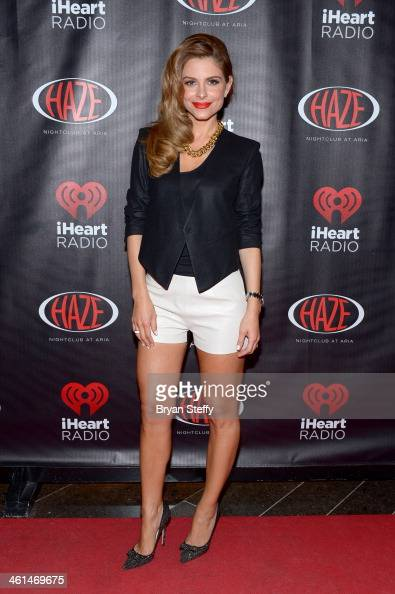 TV personality Maria Menounos attends a private party celebrating CES 2014 hosted by iHeartRadio featuring a live performance by Krewella at Haze...