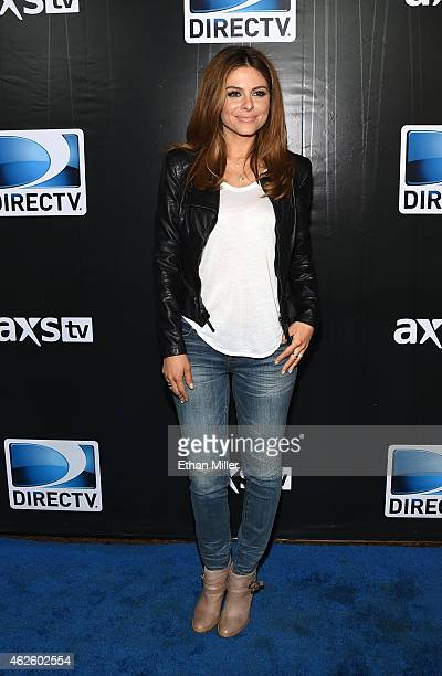 TV personality Maria Menounos attends DirecTV Super Saturday Night hosted by Mark Cuban's AXS TV and Pro Football Hall of Famer Michael Strahan at...