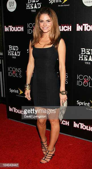 TV personality Maria Menounos attends In Touch Weekly's annual 'Icons Idols' celebration at Bar Marmont on September 12 2010 in West Hollywood...