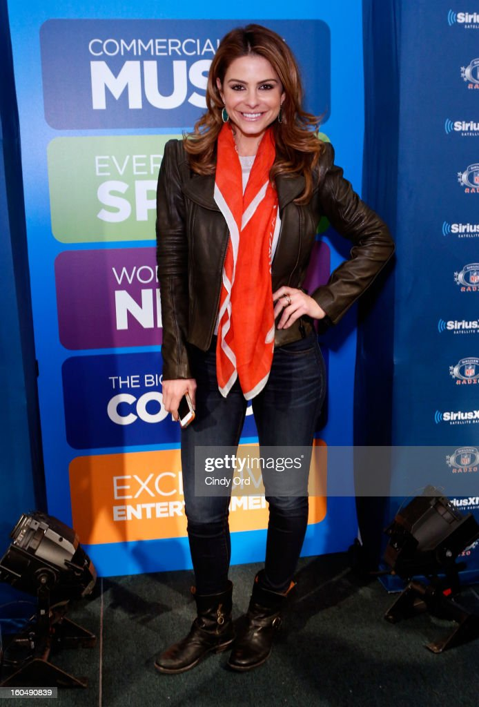 TV personality Maria Menounos attends SiriusXM's Live Broadcast from Radio Row during Bowl XLVII week on February 1, 2013 in New Orleans, Louisiana.