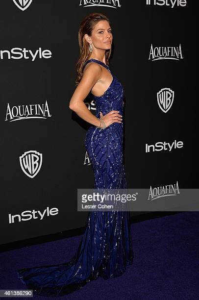 Personality Maria Menounos attends the 16th Annual Warner Bros and InStyle PostGolden Globe Party at The Beverly Hilton Hotel on January 11 2015 in...