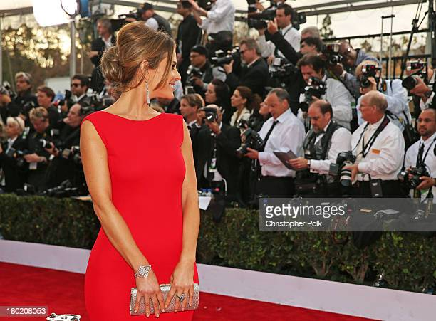 TV personality Maria Menounos attends the 19th Annual Screen Actors Guild Awards at The Shrine Auditorium on January 27 2013 in Los Angeles...