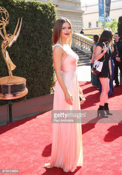 Personality Maria Menounos attends the 44th annual Daytime Emmy Awards at Pasadena Civic Auditorium on April 30 2017 in Pasadena California