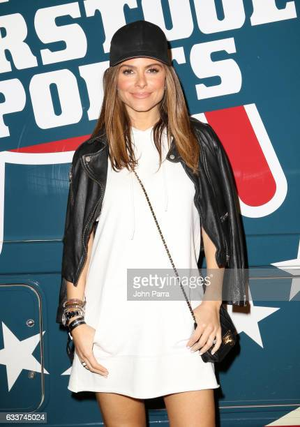 TV personality Maria Menounos attends The Barstool Party 2017 on February 3 2017 in Houston Texas