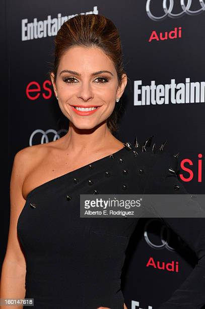 TV personality Maria Menounos attends the Entertainment Weekly PreSAG Party hosted by Essie and Audi held at Chateau Marmont on January 26 2013 in...