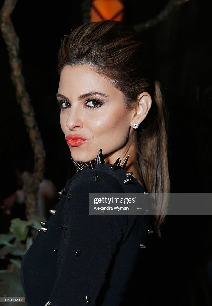 TV personality <a gi-track='captionPersonalityLinkClicked' href=/galleries/search?phrase=Maria+Menounos&family=editorial&specificpeople=203337 ng-click='$event.stopPropagation()'>Maria Menounos</a> attends the Entertainment Weekly Pre-SAG Party hosted by Essie and Audi held at Chateau Marmont on January 26, 2013 in Los Angeles, California.
