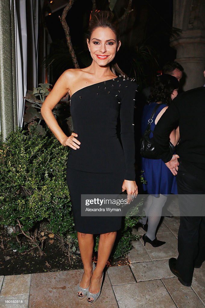 TV personality Maria Menounos attends the Entertainment Weekly Pre-SAG Party hosted by Essie and Audi held at Chateau Marmont on January 26, 2013 in Los Angeles, California.