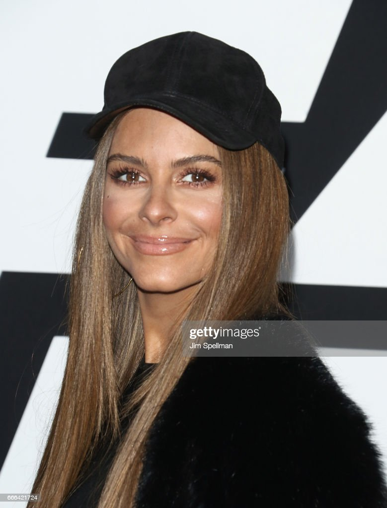 TV personality Maria Menounos attends 'The Fate Of The Furious' New York premiere at Radio City Music Hall on April 8, 2017 in New York City.