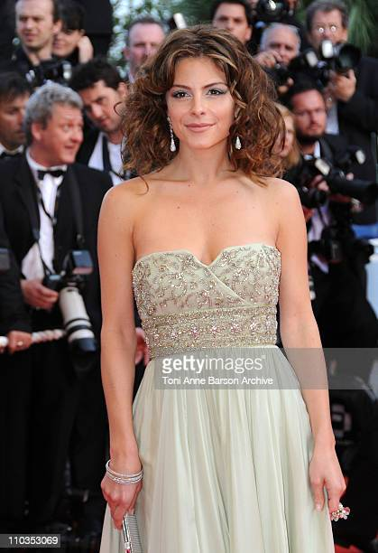 TV personality Maria Menounos attends the Indiana Jones and the Kingdom of the Crystal Skull premiere at the Palais des Festivals during the 61st...
