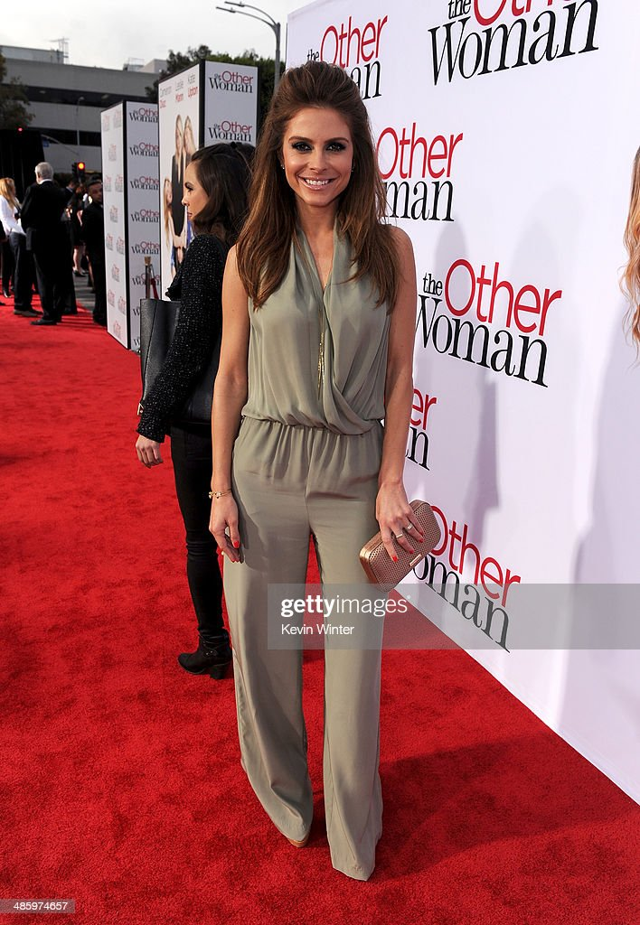 TV personality <a gi-track='captionPersonalityLinkClicked' href=/galleries/search?phrase=Maria+Menounos&family=editorial&specificpeople=203337 ng-click='$event.stopPropagation()'>Maria Menounos</a> attends the premiere of Twentieth Century Fox's 'The Other Woman' at Regency Village Theatre on April 21, 2014 in Westwood, California.