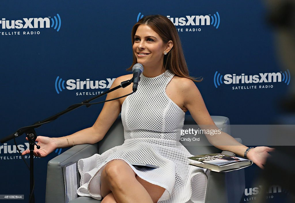 TV personality Maria Menounos speaks during SiriusXM's 'Town Hall' with Rob Gronkowski hosted by Maria Menounos on July 17 2015 in New York City