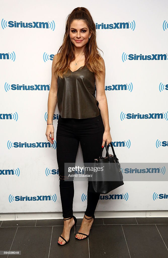 TV personality Maria Menounos visits the SiriusXM Studios on August 22, 2016 in New York City.