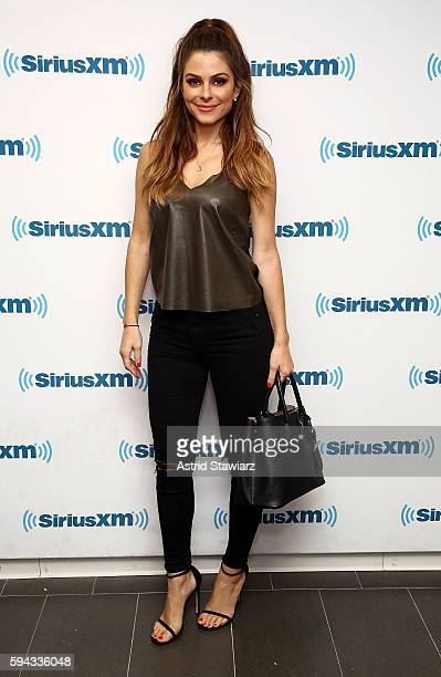 TV personality Maria Menounos visits the SiriusXM Studios on August 22 2016 in New York City