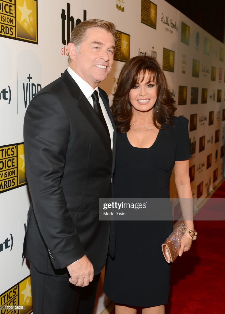 TV Personality <a gi-track='captionPersonalityLinkClicked' href=/galleries/search?phrase=Marie+Osmond&family=editorial&specificpeople=217477 ng-click='$event.stopPropagation()'>Marie Osmond</a> (R) and husband Steve Craig arrive at Broadcast Television Journalists Association's third annual Critics' Choice Television Awards at The Beverly Hilton Hotel on June 10, 2013 in Los Angeles, California.