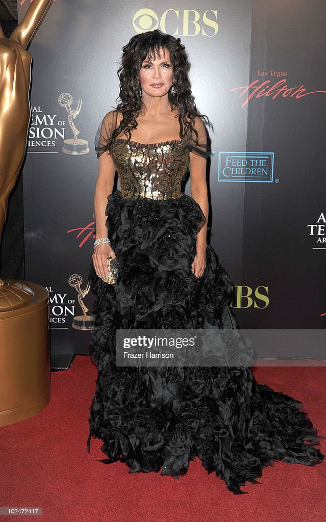 TV personality <a gi-track='captionPersonalityLinkClicked' href=/galleries/search?phrase=Marie+Osmond&family=editorial&specificpeople=217477 ng-click='$event.stopPropagation()'>Marie Osmond</a> arrives at the 37th Annual Daytime Entertainment Emmy Awards held at the Las Vegas Hilton on June 27, 2010 in Las Vegas, Nevada.