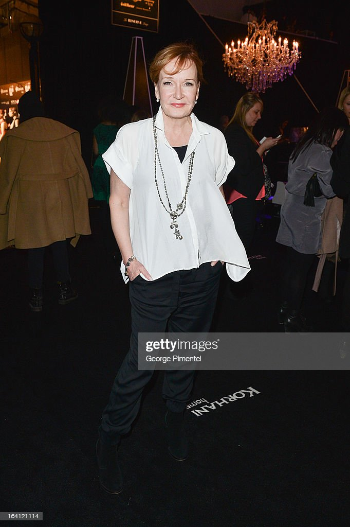 TV Personality MARILYN DENIS attends the World MasterCard Fashion Week Fall 2013 Collection at David Pecaut Square on March 19, 2013 in Toronto, Canada.