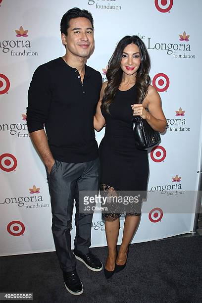 TV personality Mario Lopez and actress Courtney Mazza attend The Eva Longoria Foundation annual dinner at Beso on November 5 2015 in Hollywood...