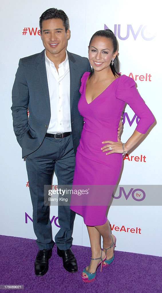 TV personality Mario Lopez (L) and comedian Anjelah Johnson attend NUVOtv Network launch party at The London West Hollywood on July 16, 2013 in West Hollywood, California.