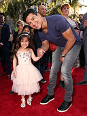 TV personality Mario Lopez and daughter Gia Lopez attend the premiere of Disney's 'The Jungle Book' at the El Capitan Theatre on April 4 2016 in...