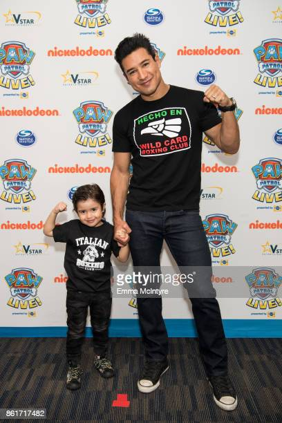 TV personality Mario Lopez and Dominic Lopez attend Nickelodeon And VStar Entertainment Group's PAW Patrol Live 'Race to the Rescue' at Dolby Theatre...