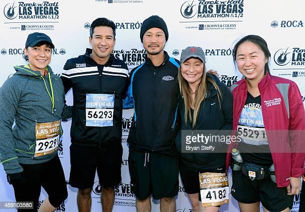 TV personality Mario Lopez and Zapposcom CEO Tony Hsieh rocked the #StripatNight in the Rock 'n' Roll Las Vegas Half Marathon in Las Vegas on Sunday...