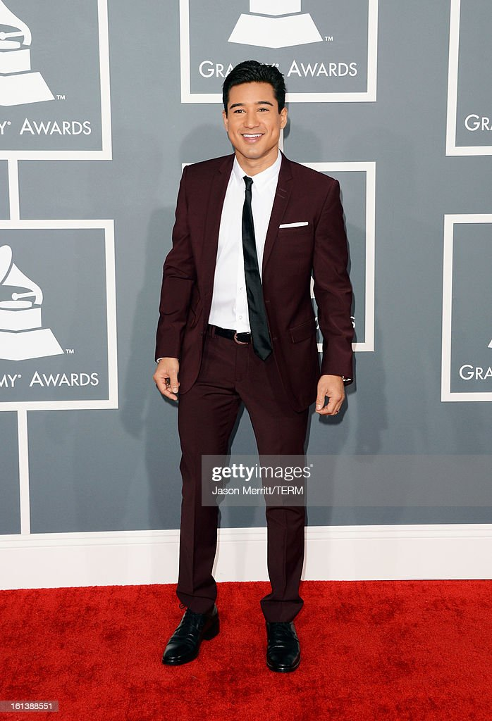 TV personality Mario Lopez arrives at the 55th Annual GRAMMY Awards at Staples Center on February 10, 2013 in Los Angeles, California.